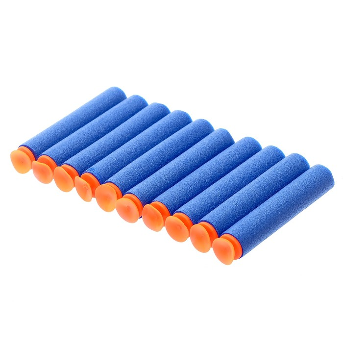 Набор мягких пуль с присосками, 10 шт., цвета МИКС