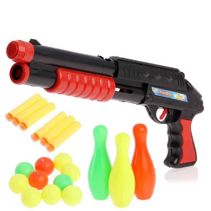 Ружьё «Комбат», с кеглями, стреляет мягкими пулями и шарами