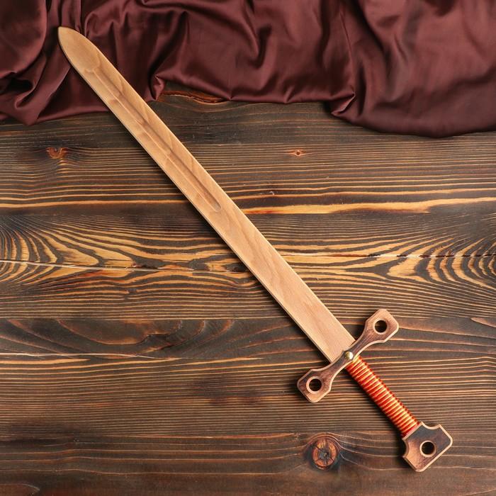 """Сувенир деревянный """"Меч двуручный"""", массив бука, 75 см, микс"""