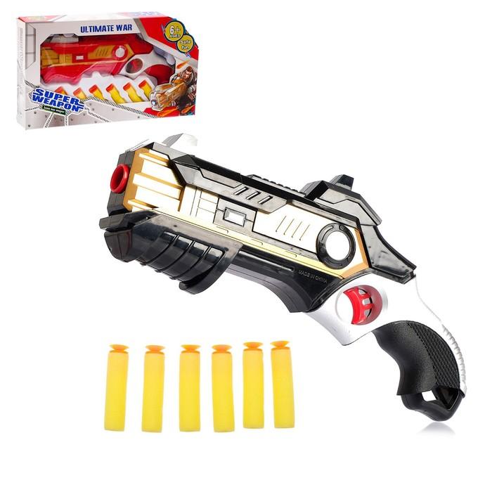 Бластер «Победитель», стреляет мягкими пулями, цвета МИКС