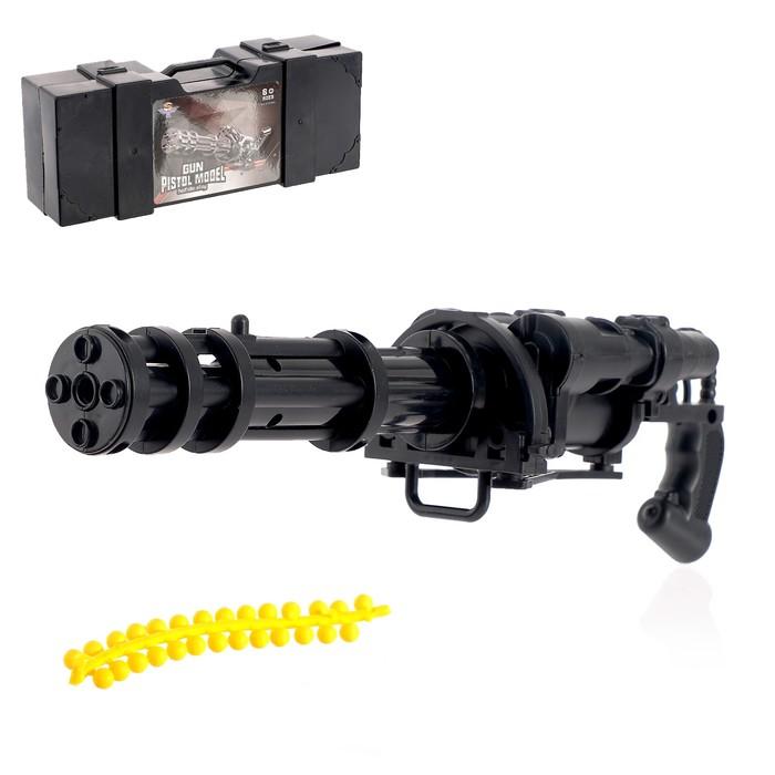 Пулемёт «Гатлинг», стреляет силиконовыми пулями