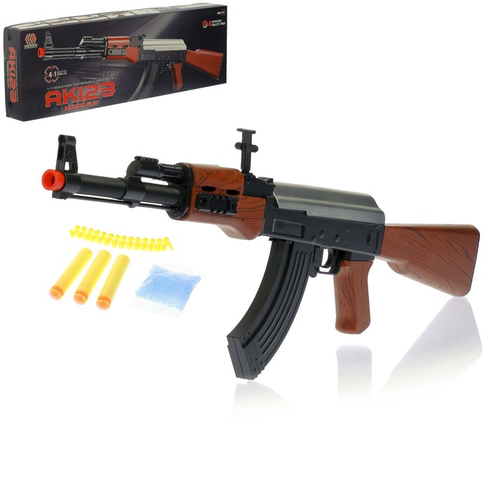 Автомат пневматический «АК 123», 4 вида снарядов
