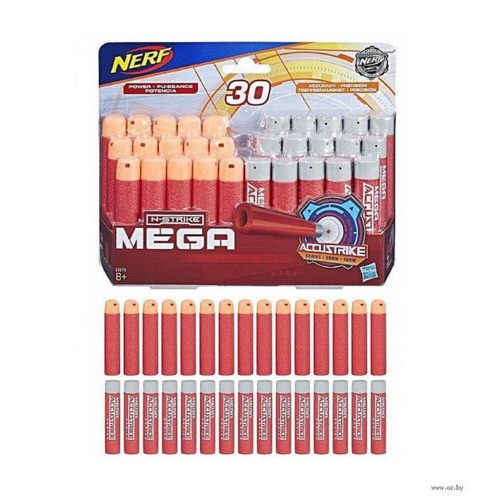 Игрушка стрелы Hasbro Nerf «Нёрф мега», 30 штук, комбо