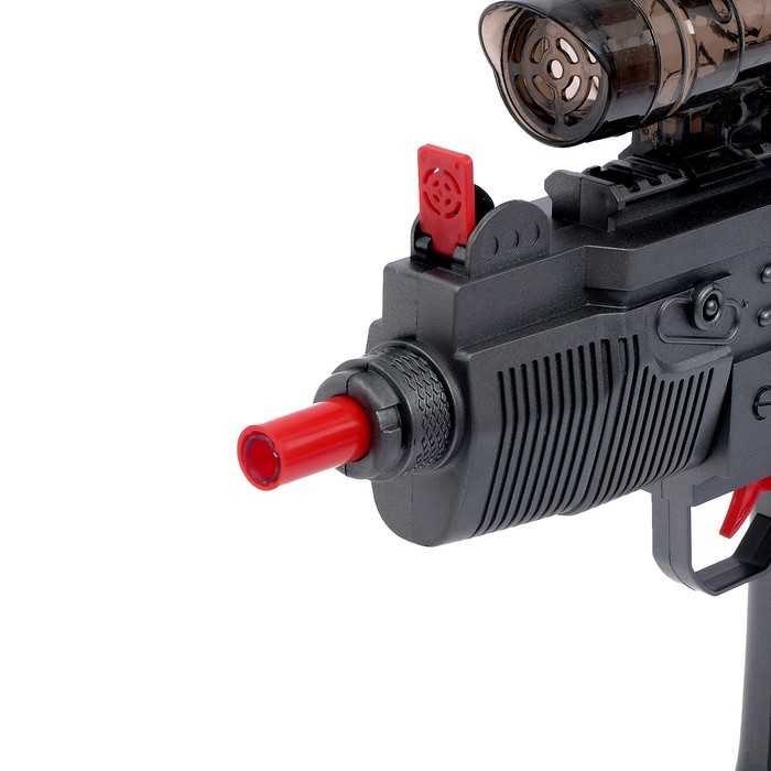 Автомат «Узи», стреляет гелевыми пулями, работает от аккумулятора