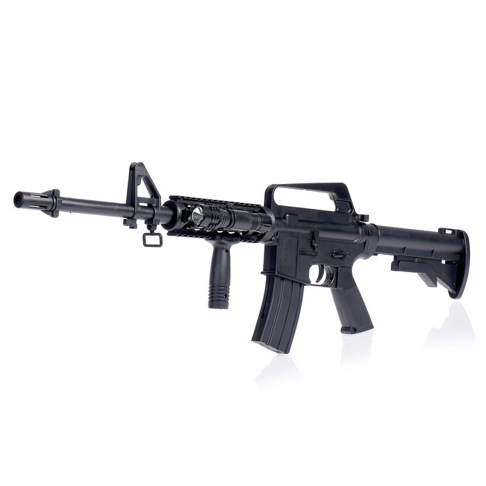 "Автомат пневматический ""Assault rifle M16-A4"", с фонариком"