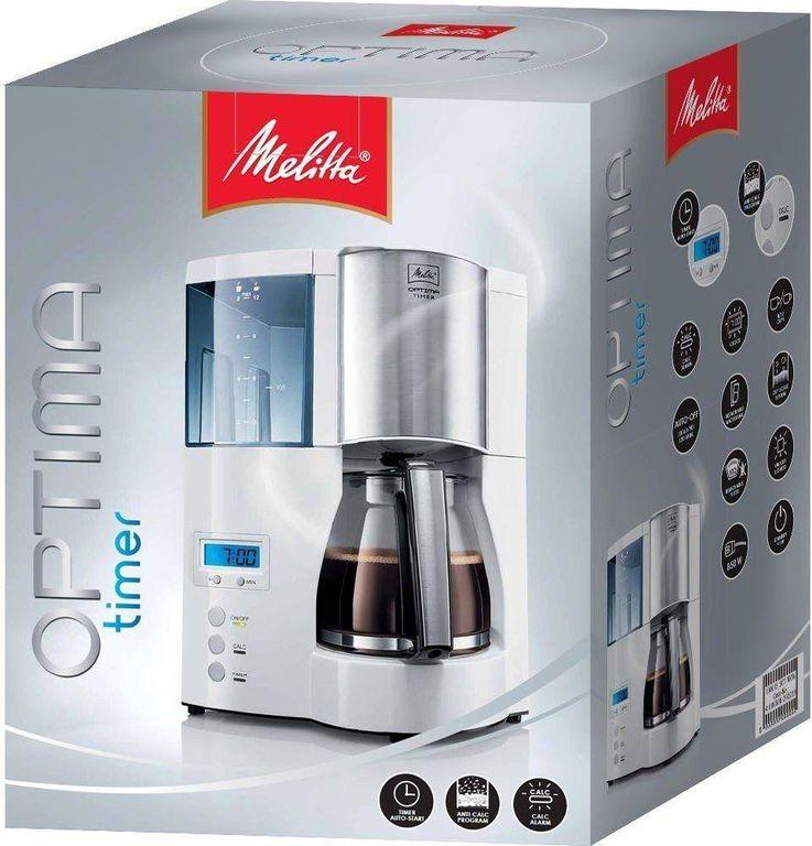 Кофеварка Melitta Optima Timer 100801 EU White