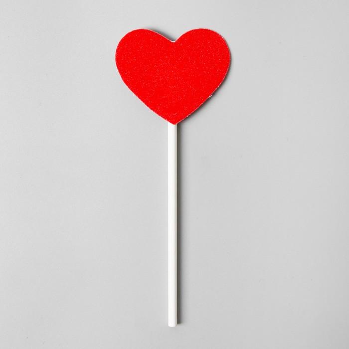 Топпер «Красное сердечко», набор 6 шт.