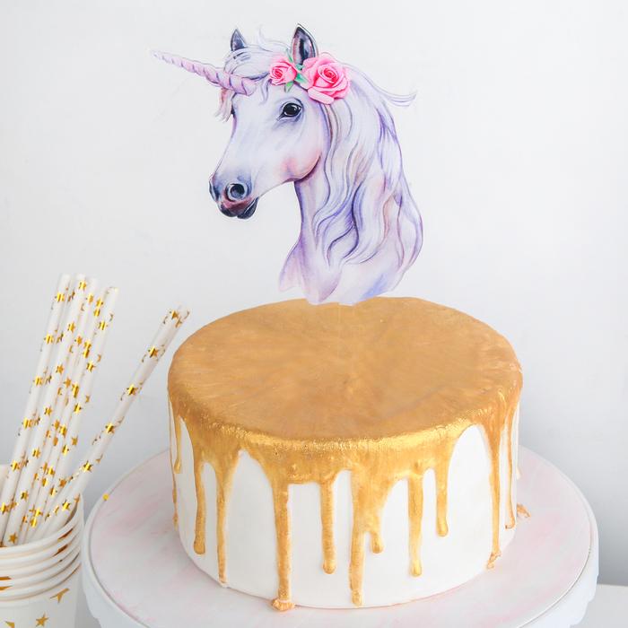 Топпер на торт «Единорог»