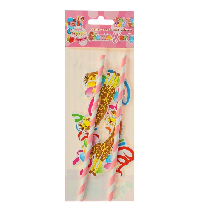 """Топпер """"С днем рождения"""" жирафик (набор 2 шт)"""