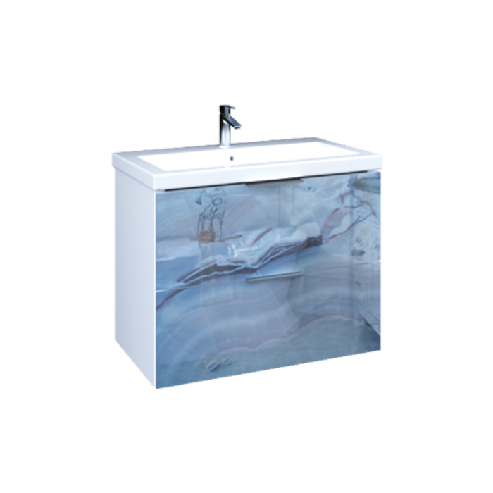 Тумба с раковиной Liriya 75П 2в.я. Blue marble