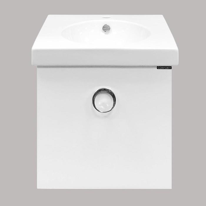 Тумба с раковиной «Магнолия-50», 50х49.5х46 см, подвесная, цвет белый