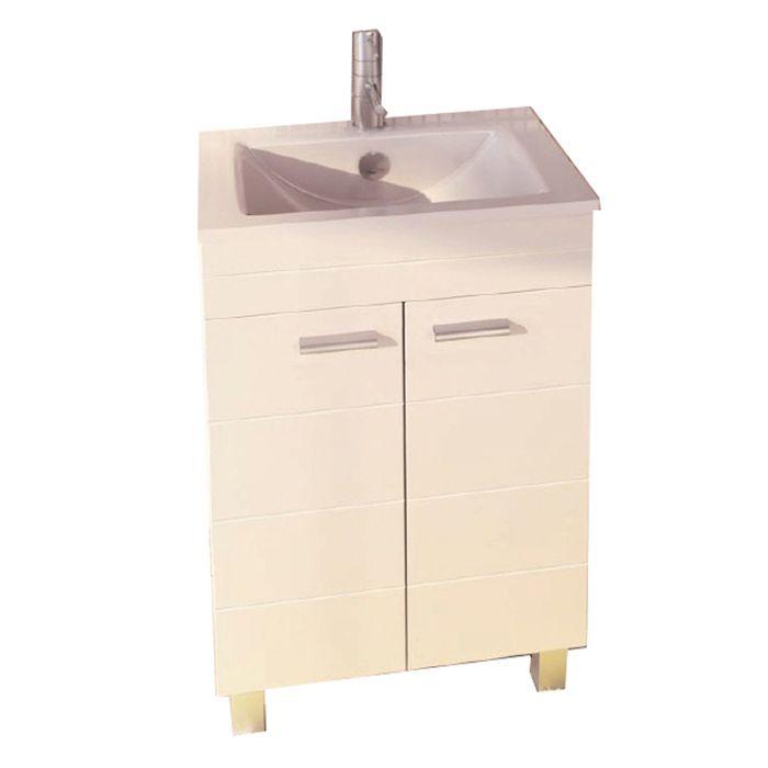 "Тумба с раковиной Comforty ""Модена-60"", 87х61х47 см, цвет белый"