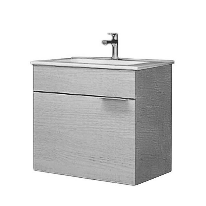 Комплект мебели Aqwella BRIG 60 подвесной, тумба с раковиной Quadro 60, дуб седой
