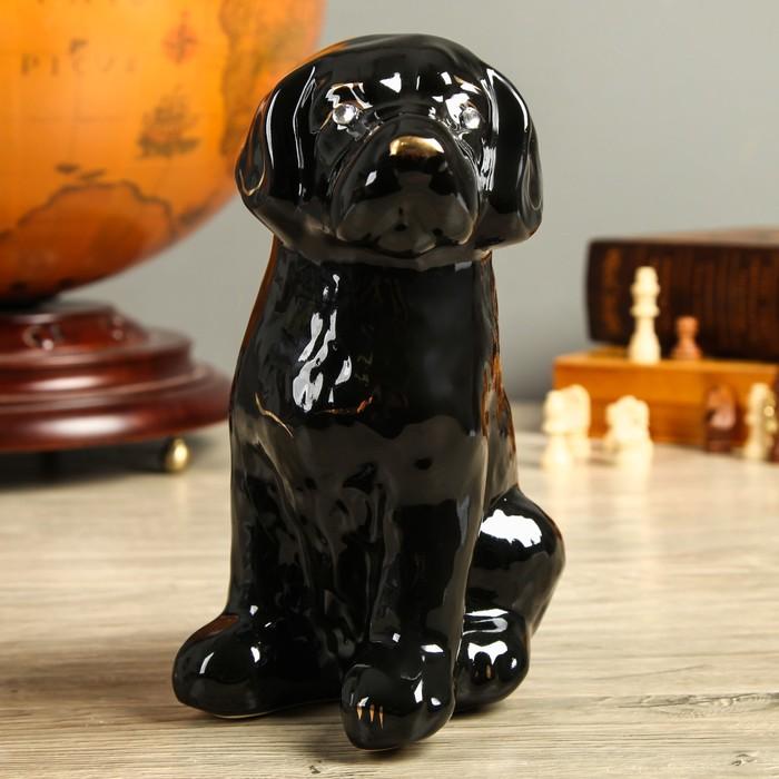 """Фигура садовая """"Собака Бобик"""" чёрный"""