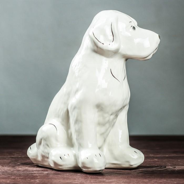 """Фигура садовая """"Собака Бобик"""" белый"""