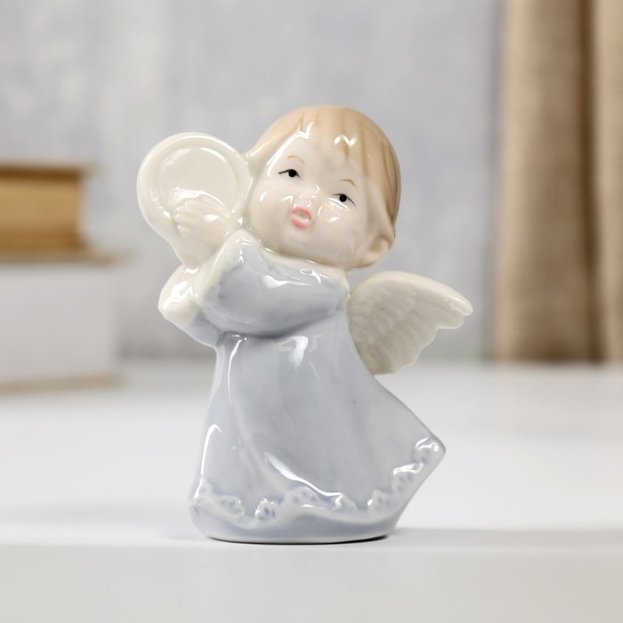 """Сувенир """"Ангелочек с бубном"""" 8,3х6,5х5 см"""