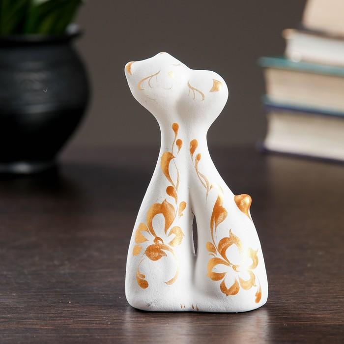 """Фигура """"Коты влюбленные"""" мини 128 белые 3 × 6,5 × 12 см"""