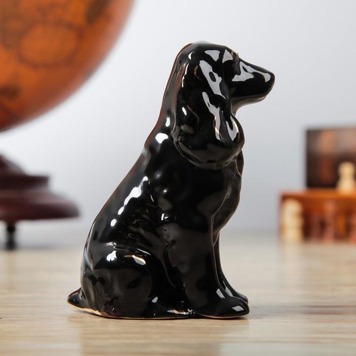"""Фигура садовая """"Собака Спаниель"""" чёрный"""