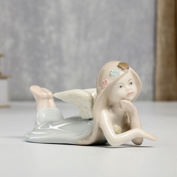 """Сувенир """"Ангел в голубом платье лежит"""" 6,5х13,8х7,5 см"""