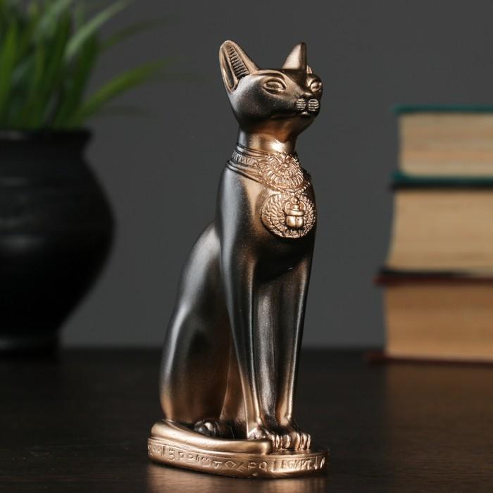 """Фигура """"Кошка египетская"""" 14см бронза"""