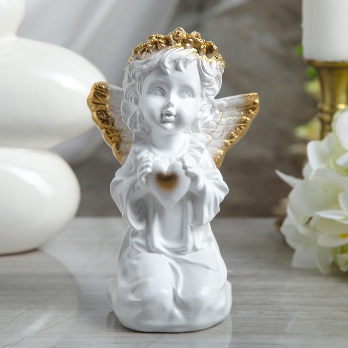 "Статуэтка ""Ангел с сердцем"" золото"