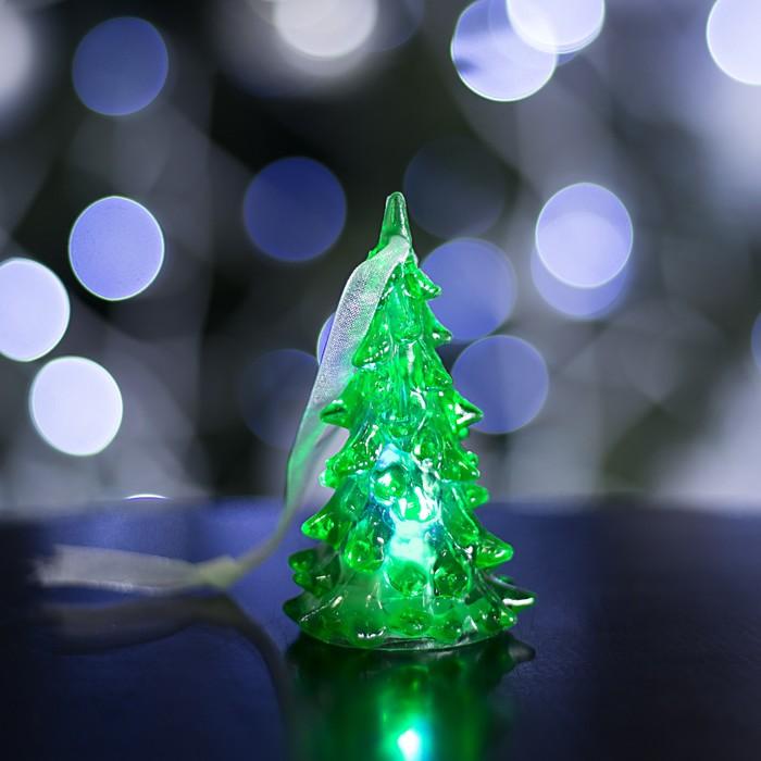"Игрушка световая ""Ёлочка"" (батарейки в комплекте) 8 см, 1 LED, RGB, ЗЕЛЁНАЯ"