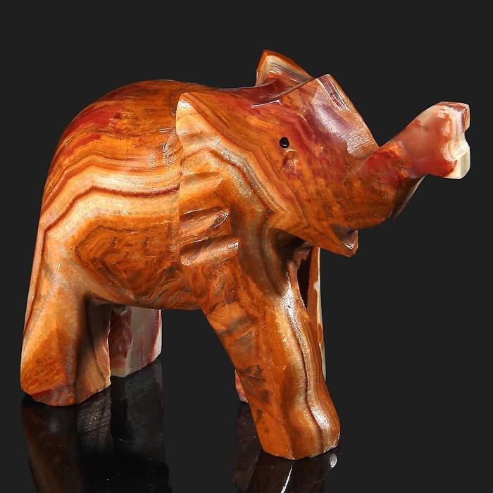 Сувенир «Слон», 10 см, оникс