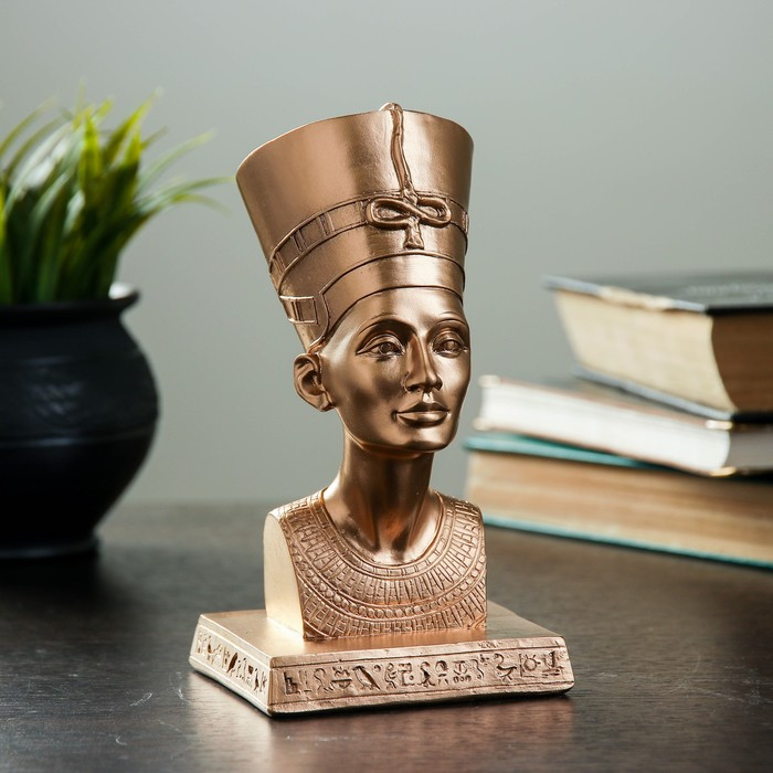 """Фигура """"Нефертити"""" бронза 17 см"""