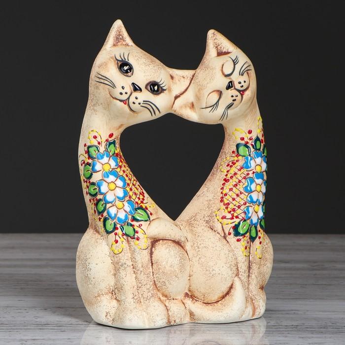 """Сувенир """"Коты"""" 22 см, шамот, микс"""