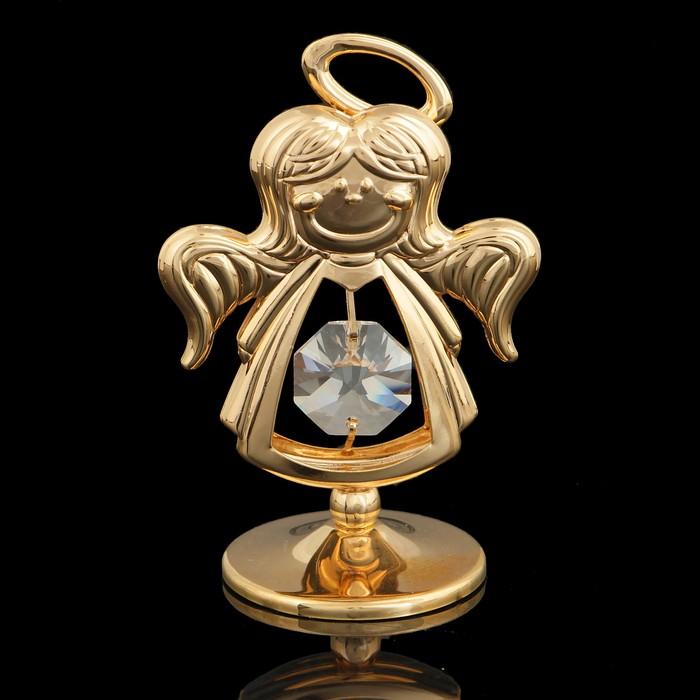 Сувенир «Ангел», с кристаллом Сваровски, 6,5 см