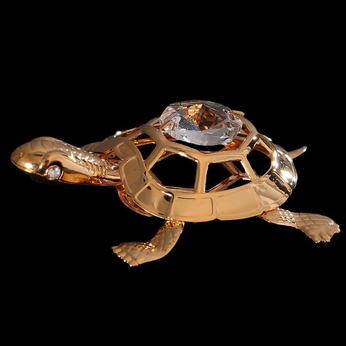 Сувенир «Черепаха», 5,5×4,3×1,5 см, с кристаллом Сваровски