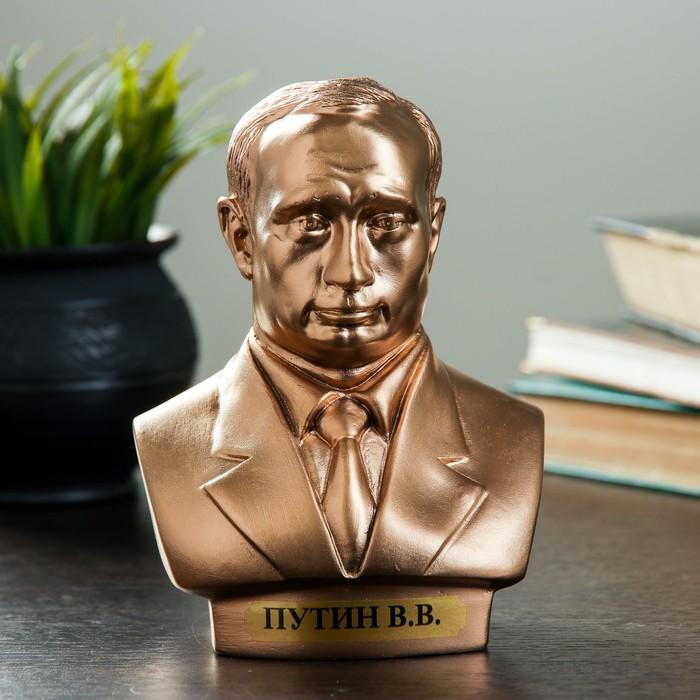Бюст Путин средний бронза 16 см