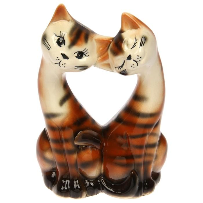 """Сувенир """"Коты в форме сердца"""" глянец, микс"""