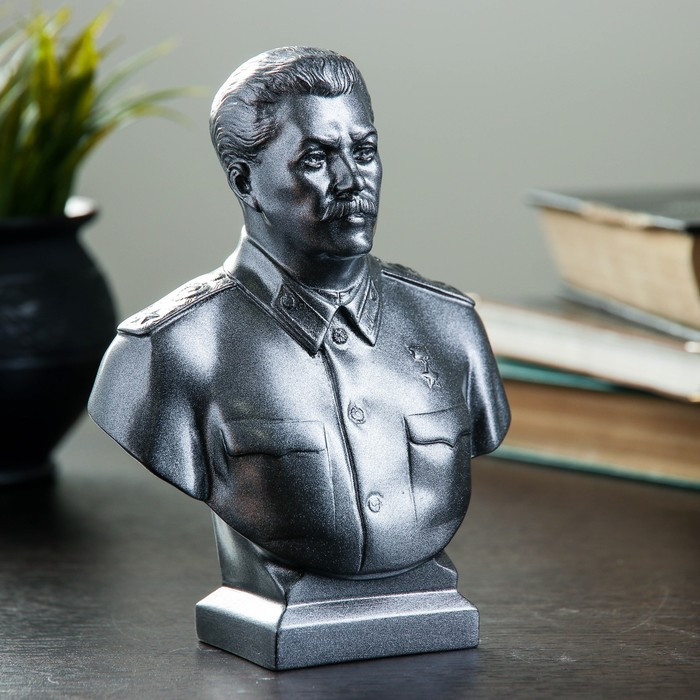 Бюст Сталин большой металлик 16 см