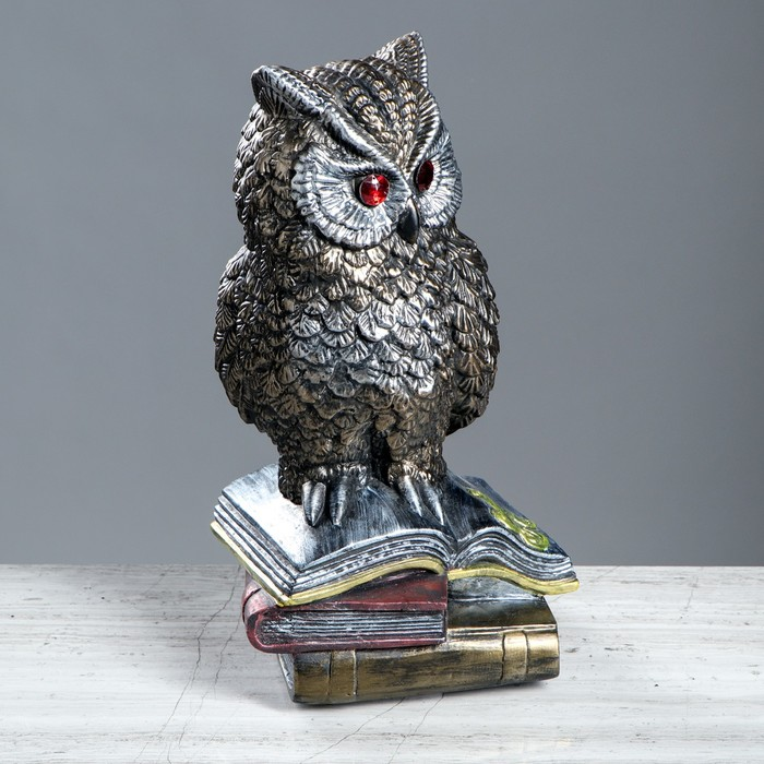 "Статуэтка ""Сова на книгах №3"" 33 см, микс"