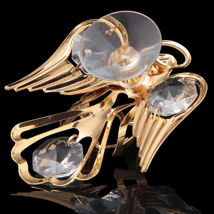Сувенир «Ангел», на присоске, с кристаллами Сваровски