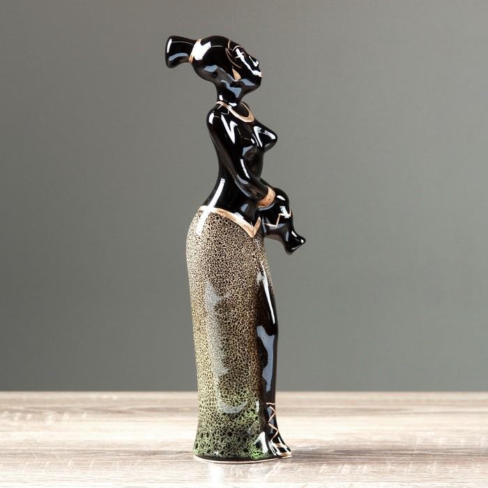 """Сувенир-статуэтка средняя """"Эфиопка с кувшином"""", 31 см, микс"""