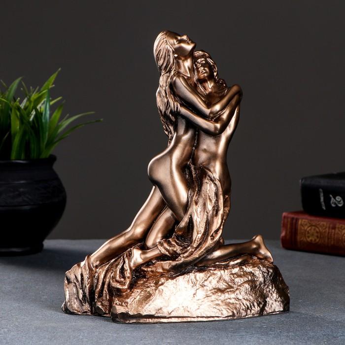 "Фигура ""Свидание"", бронза,золото 18х12х22 см"
