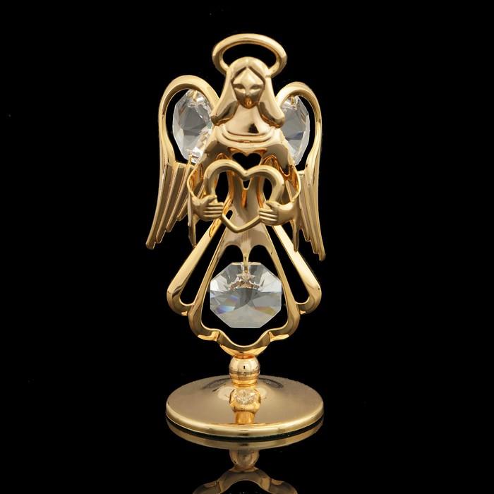 Сувенир «Ангел», с кристаллами Сваровски, 7,5 см