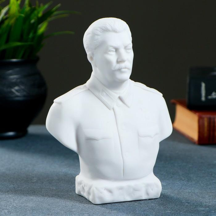 Бюст Сталин, большой 16см / мраморная крошка