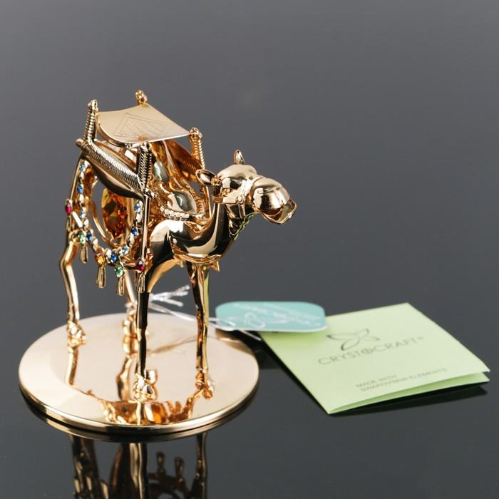 Сувенир «Верблюд», 6,5×10×8.5 см, с кристаллами Сваровски