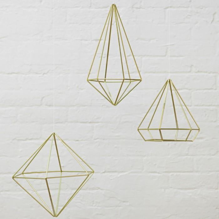 Декор для стен Prisma, латунь