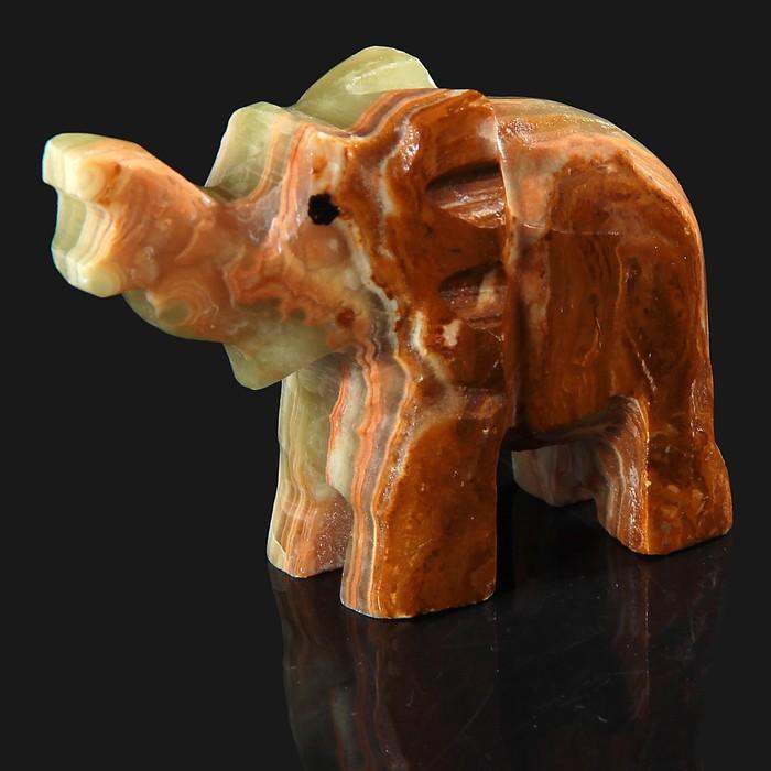 Сувенир «Слон», 5 см, оникс