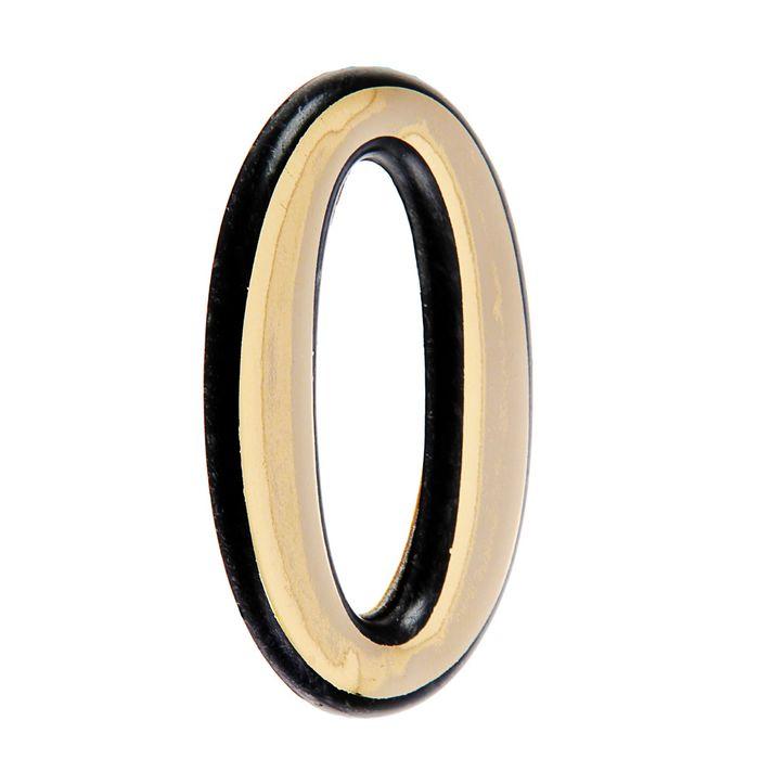 """Цифра дверная """"0"""" """"АЛЛЮР"""", большая, пластик, цвет золото"""