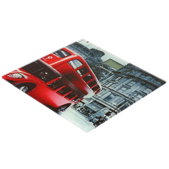 """Весы напольные HOMESTAR HS-6001F, электронные, до 180 кг, картинка """"Лондон"""""""