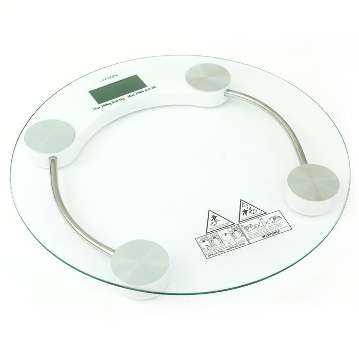 Весы напольные LuazON LVE-001, электронные, до 180 кг, белые