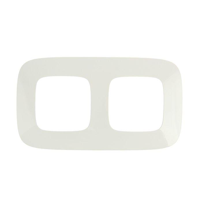 Рамка Legrand Valena Allure 754302, двухместная, белая