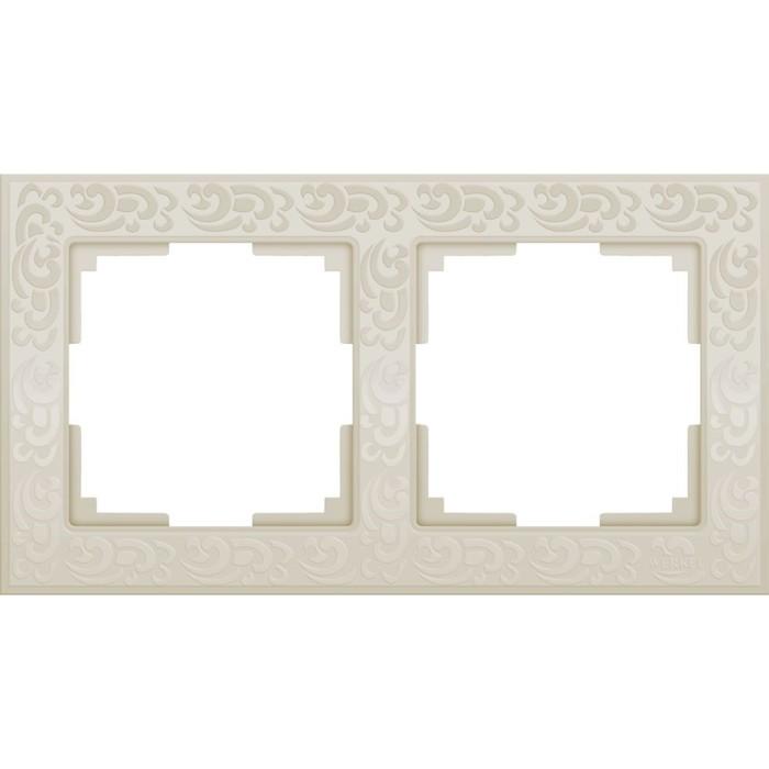 Рамка на 2 поста  WL05-Frame-02-ivory, цвет слоновая кость