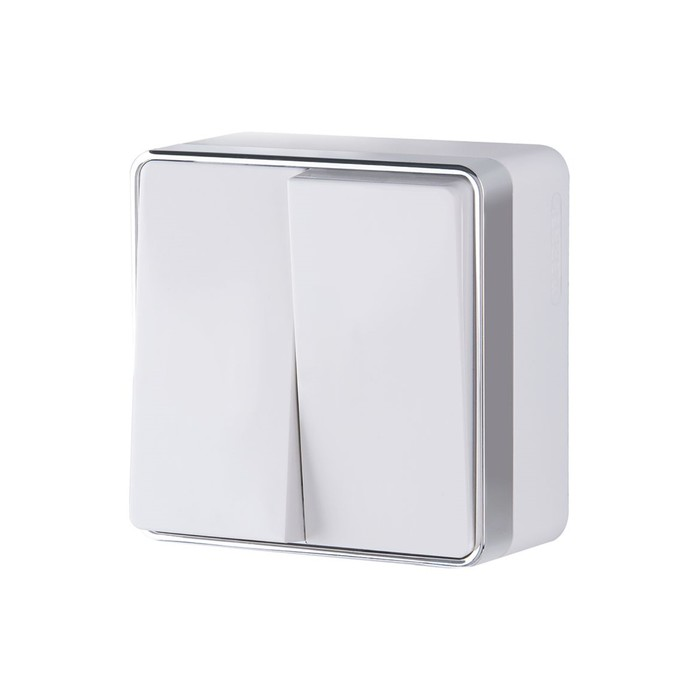 Выключатель двухклавишный Gallant  WL15-03-01-white, цвет белый