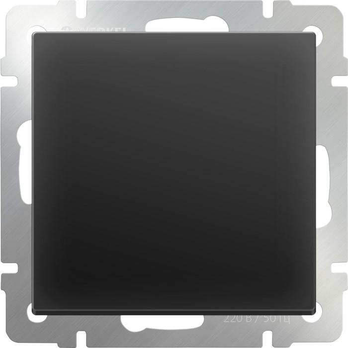 Выключатель одноклавишный  WL08-SW-1G, цвет черный